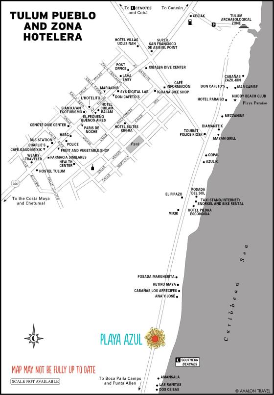 Tulum-map